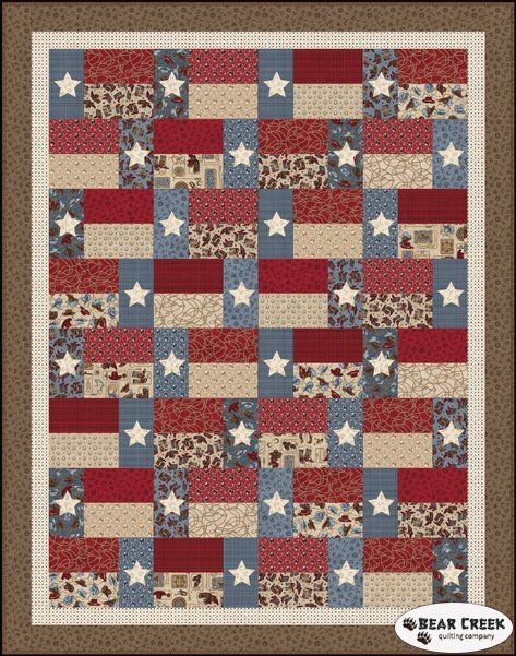 Hold 'em or Fold 'em - Stars and Stripes Free Quilt Pattern by ... : texas star quilt pattern free - Adamdwight.com