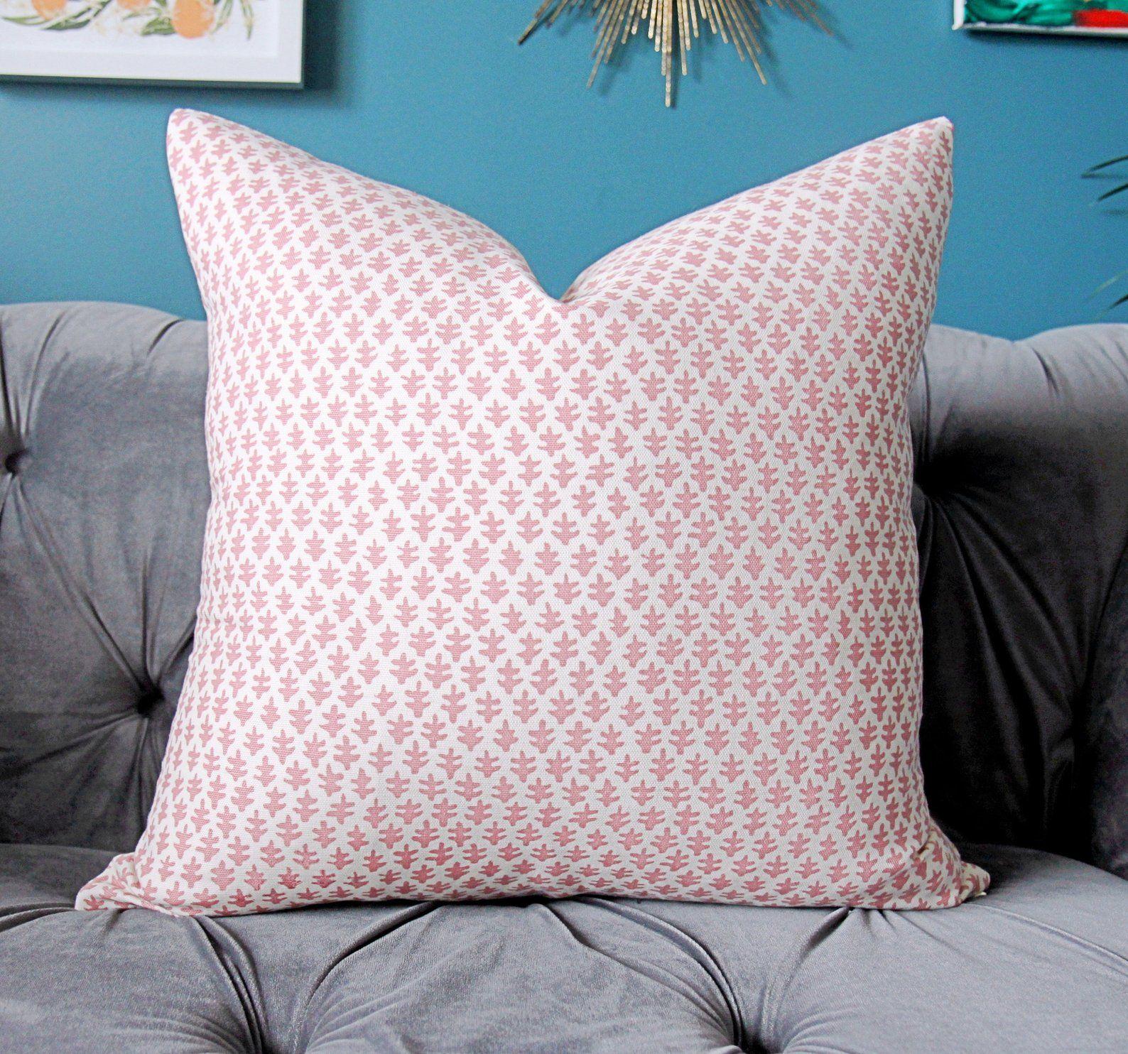 Sister Parish Pillow Cover Burmese Petal Pink