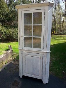 Antique Amish Built Unfinished Reclaimed Barn Wood Corner Cabinet Fascinating Unfinished Corner Cabinets For Dining Room Decorating Design