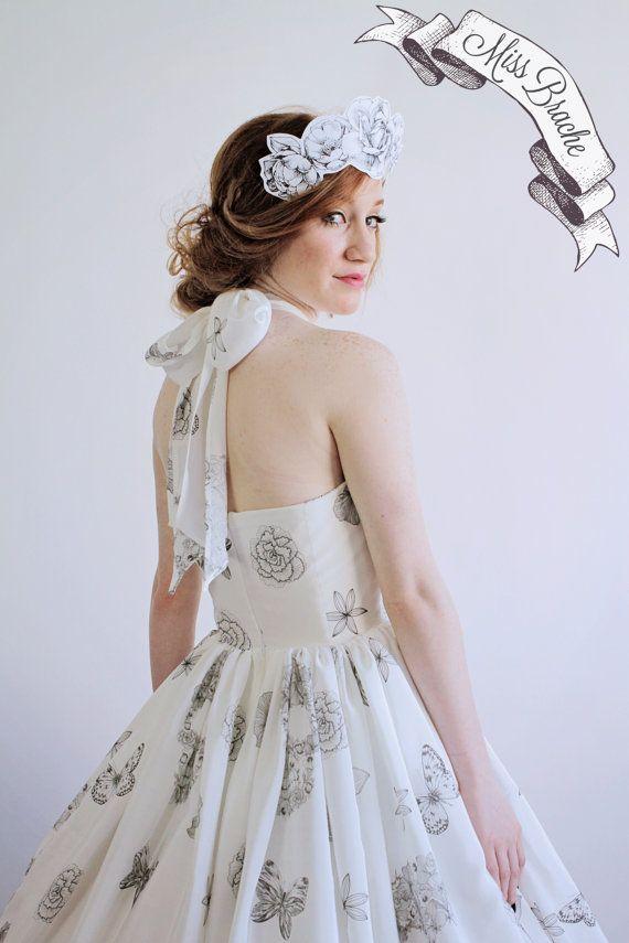Sugar Skulls Flowers and Butterflies Print Wedding Dress by ...