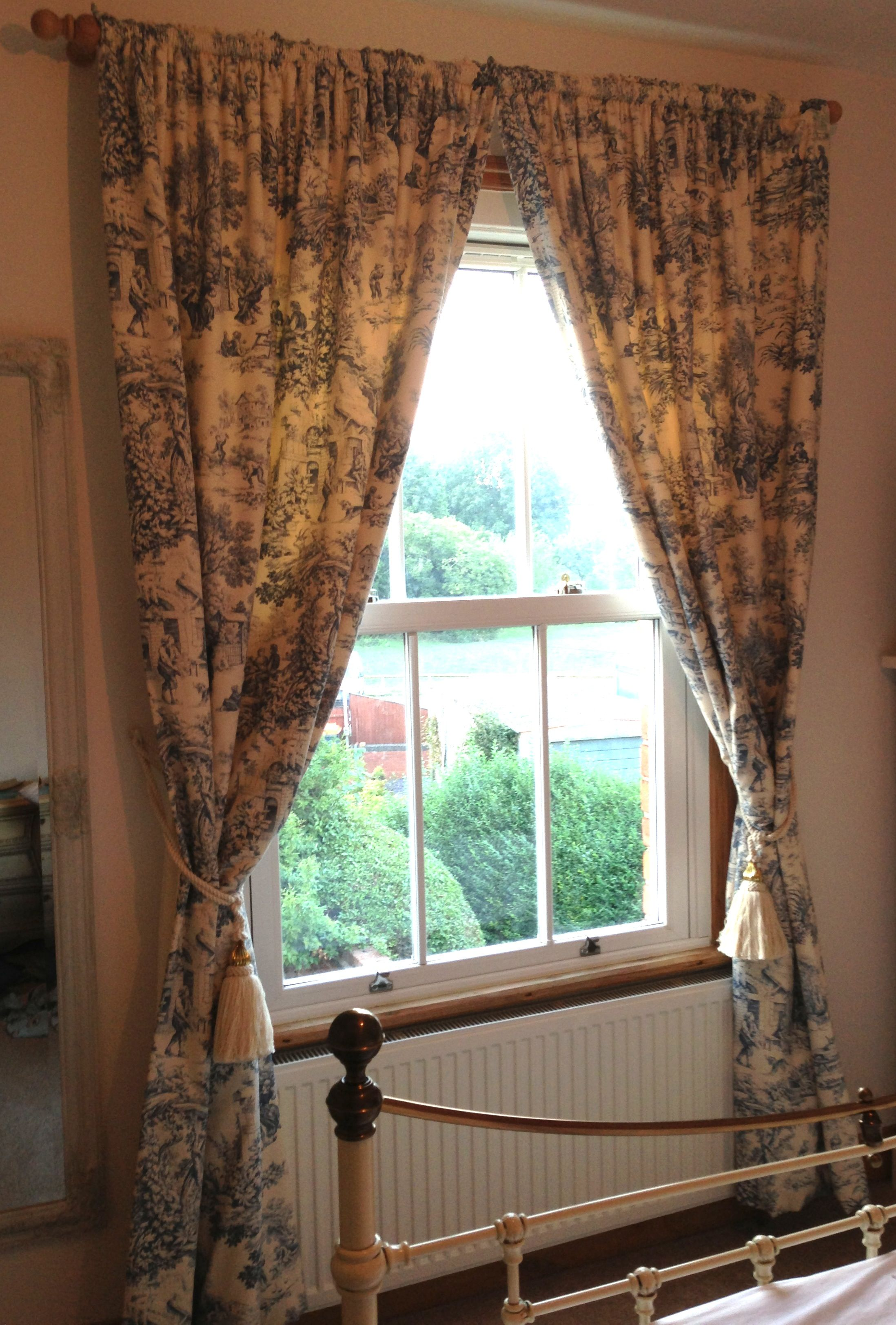 Curtains Made From French Toile Du Jouy Cotton Curtain Fabric From