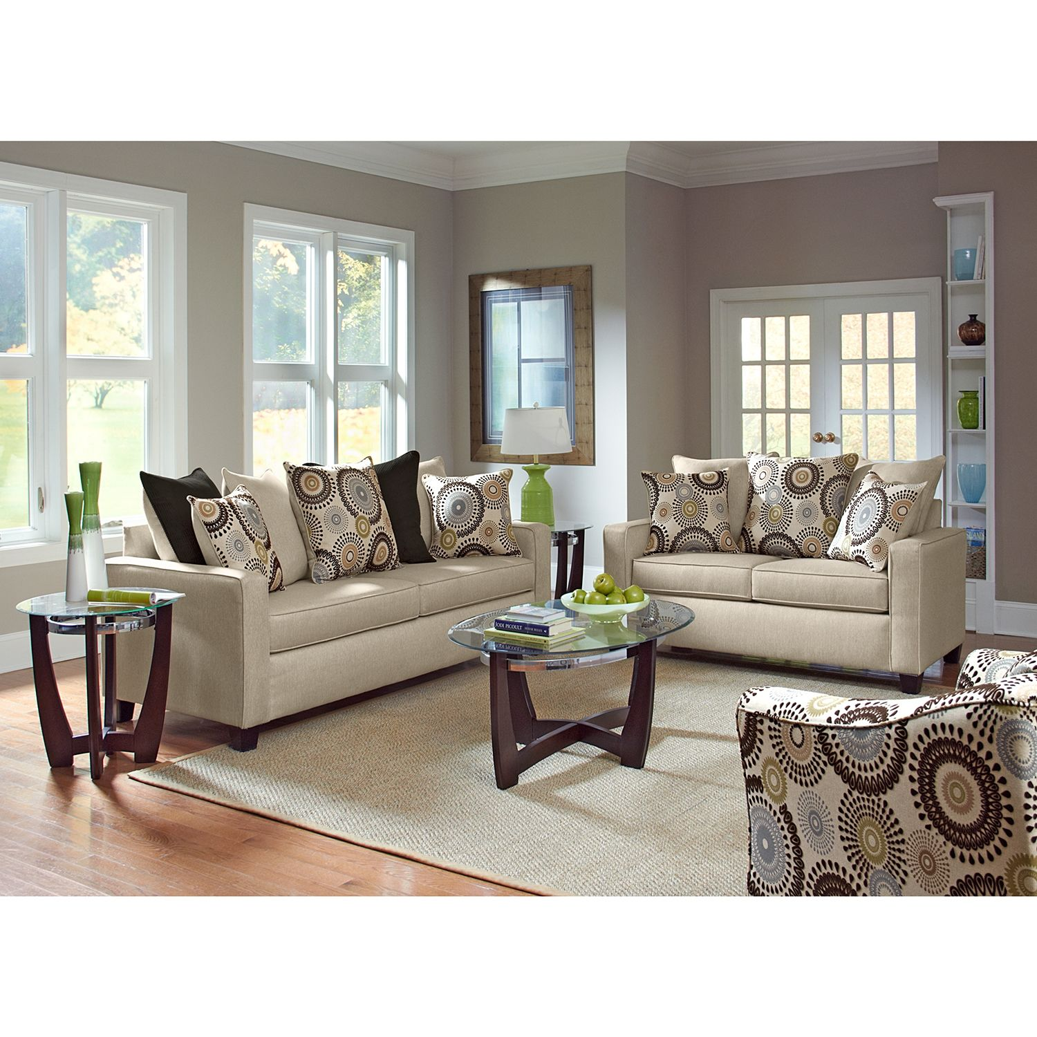 Stoked Upholstery 3 Pc Living Room Value City Furniture Home