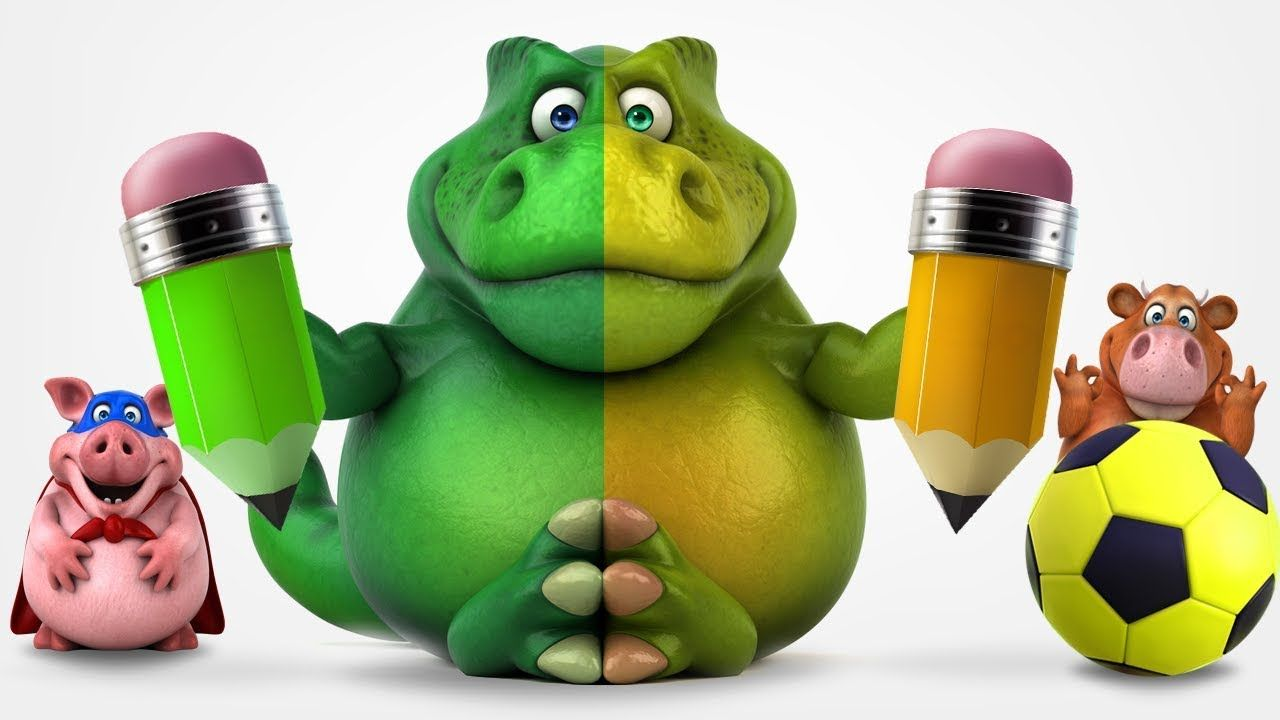 Colors for Kids to Learn with Squishy Dinosaurs, Soccer Balls, Candy ...