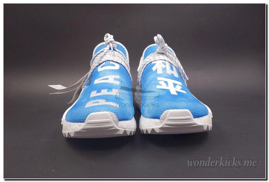 4917f41017ea6 Pharrell x Adidas NMD Human Race China Pack Peace Blue White F99763 ...