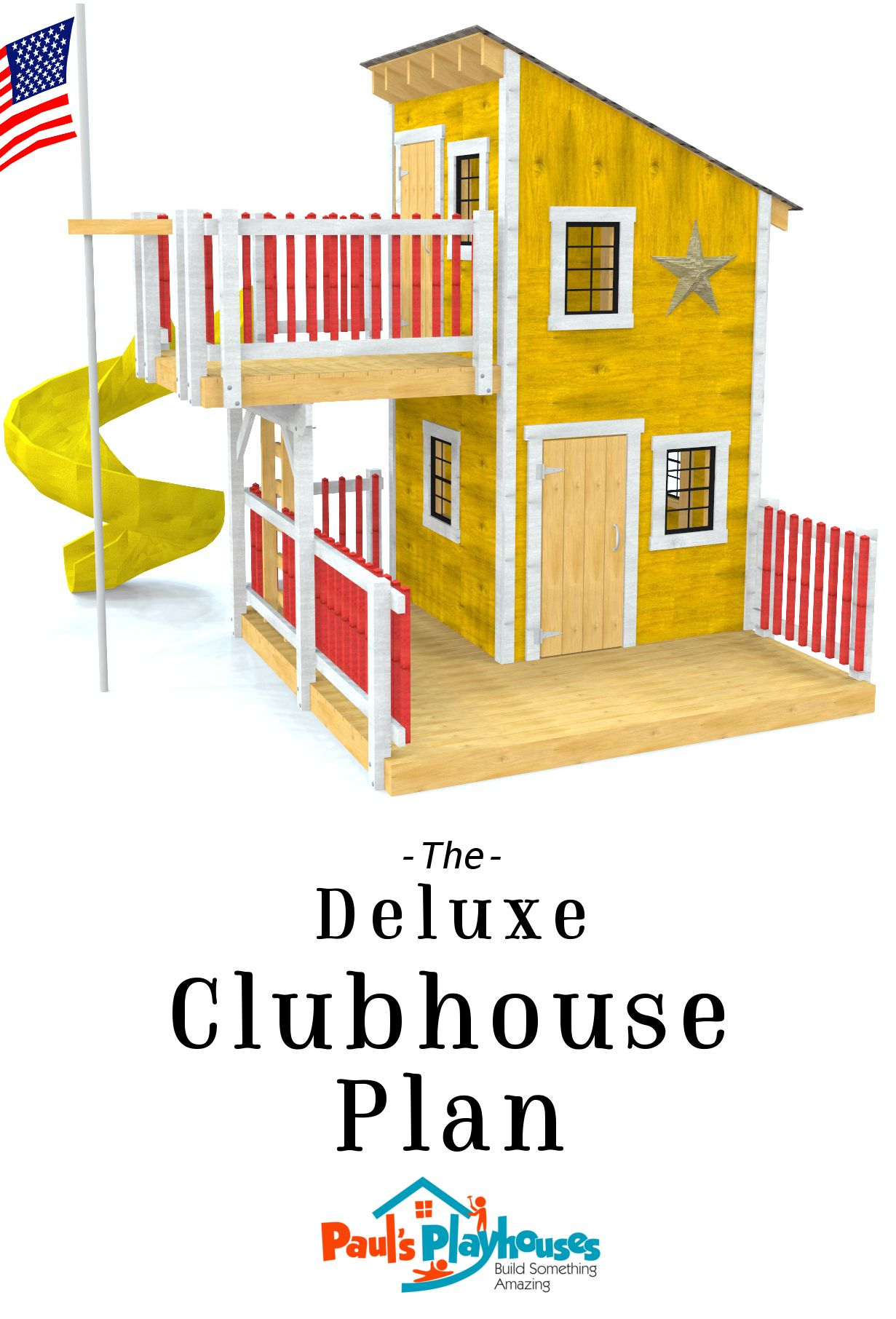 Deluxe Loft Clubhouse Plan in 2019 | archdraw | Kids playhouse plans on tree house plans with loft, playhouse plans with storage, barn plans with loft, high ceiling loft, playhouse with loft and porch, playhouse with deck, playhouse plans with porch, floor plans with loft, playhouse loft ladder, playhouse with slide plans, playhouse plans and blueprints, garage plans with loft,
