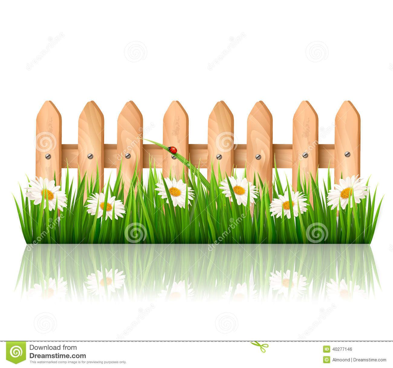 Clip Art Pictures Of Kid Fence In The Garden