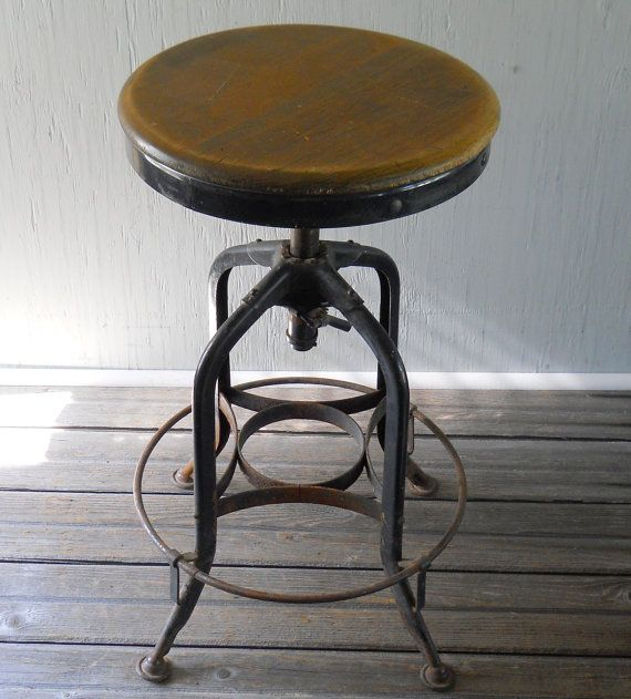 Vintage Drafting Stool Toledo Metal Furniture By Lisabretrostyle2