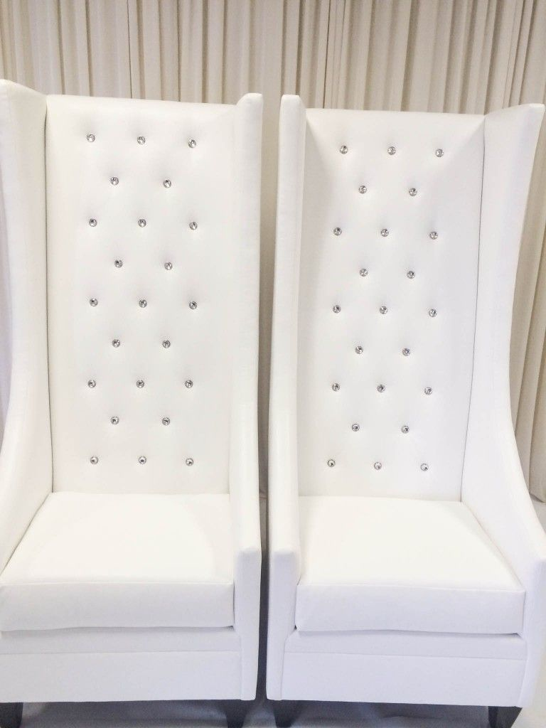 innovative modern high back living room chairs | MODERN-HIGH-BACK-DIAMOND-TUFTED-CHAIRS- Yes please!! But ...