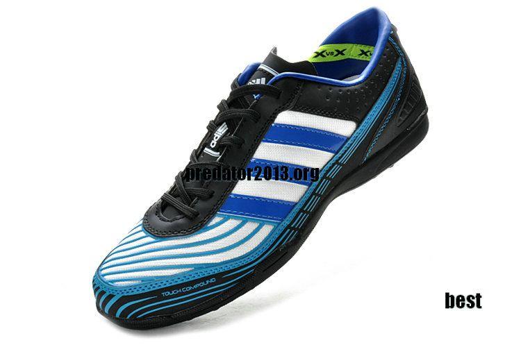 Adidas Adi5 Astro Turf Junior Black Bright Blue White. Football ShoesSoccer  ... 7a29644c6