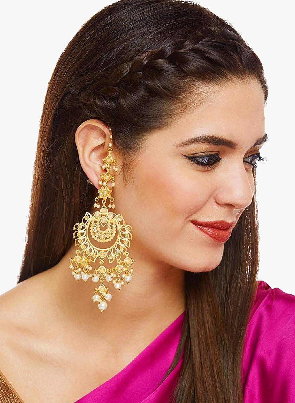 Beautiful Long Earrings Images