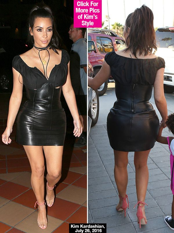 Kim Kardashian Flaunts 120 Lb. Goal Weight In Sexy Skin Tight ...
