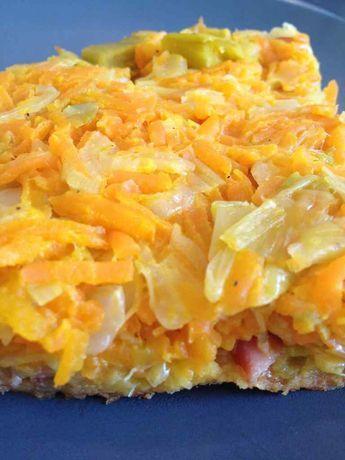 tarte tatin poireaux carottes bacon - rachel et sa cuisine légère