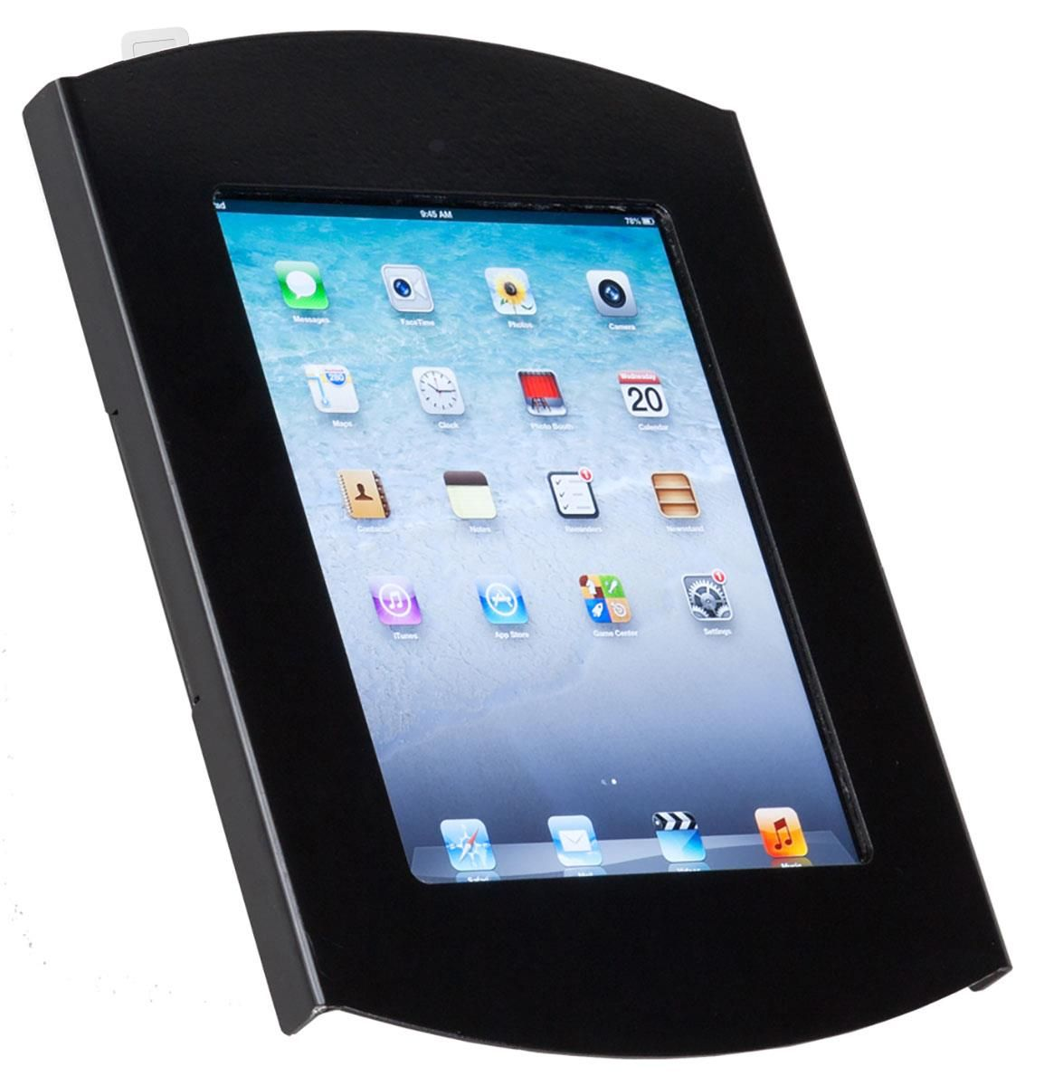 Ipad Wall Mount Locking Enclosure W Hidden Home Cc Reader Compatible Black With Images Ipad Wall Mount
