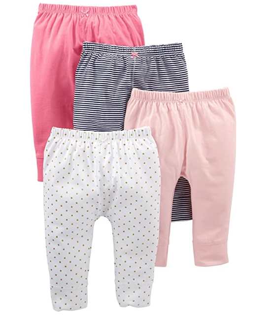 Simple Joys by Carters Baby Girls 4-Pack Legging