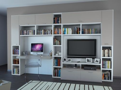Muebles pre fabricado para equipos de sonido tv y la for Muebles para computadora