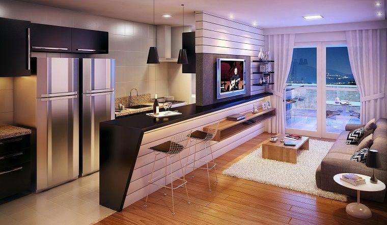 cocina abierta al salón ideas para espacios pequeños | Decoración ...