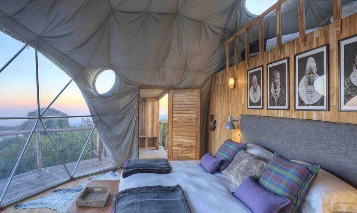 Campamento de bajo impacto en el Parque Nacional Serengueti