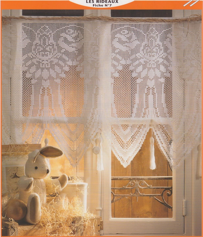 rideaux pour fen tre art d co a crocheter soi m me mat riel crochet par l atelier de nanie. Black Bedroom Furniture Sets. Home Design Ideas