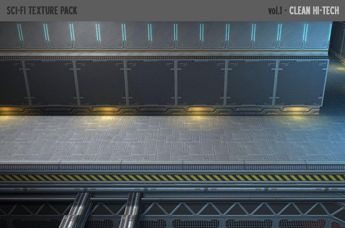 Blaze K - Sci-Fi Texture Pack (Semi-stylized)   Unity Community