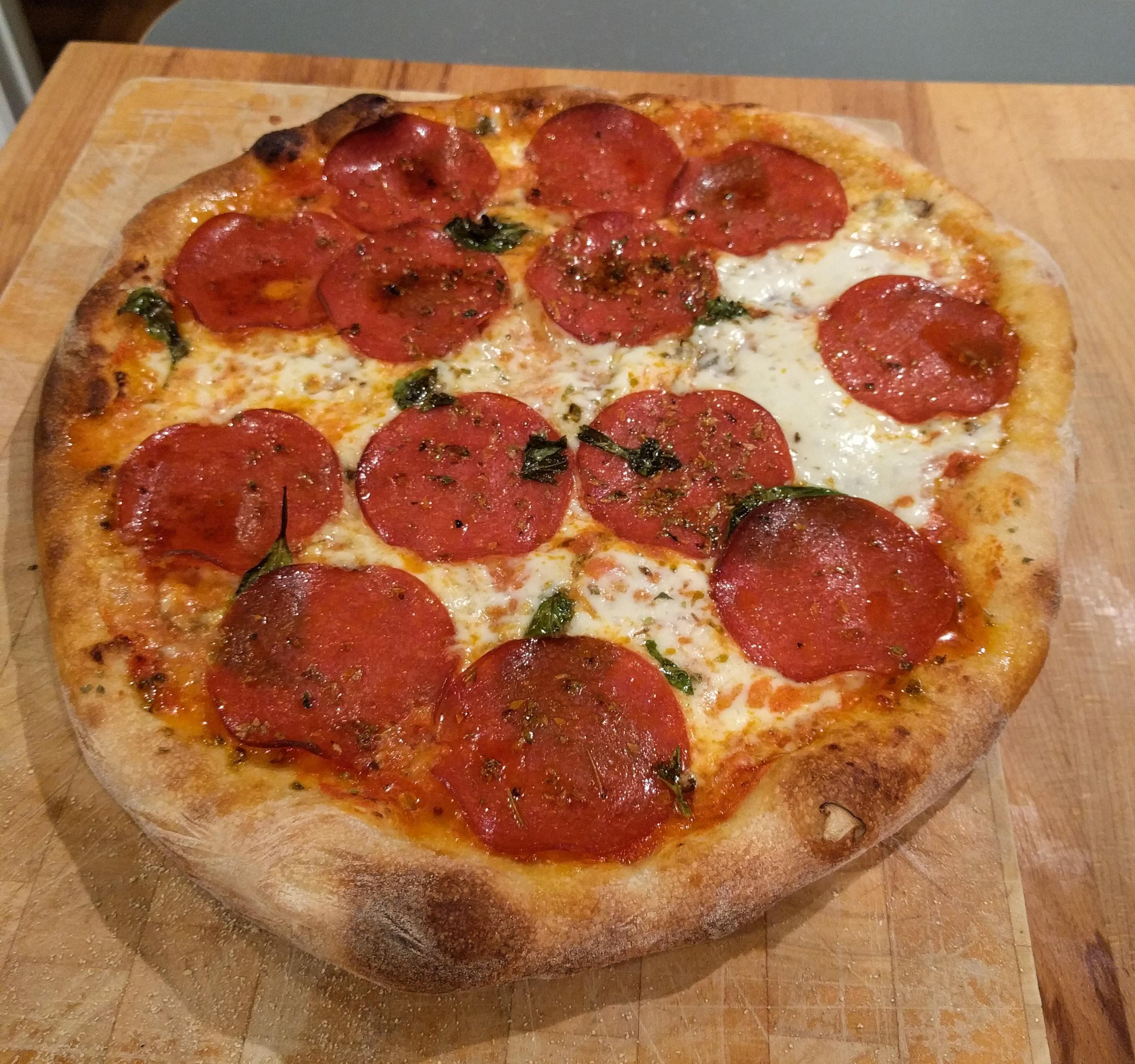 First pizza on custom laser-cut steels! #pizza #food #foodporn #yummy #love #dinner #salsa #recipe