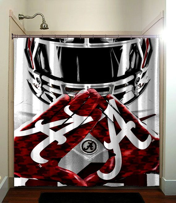 Lovely Alabama Crimson Tide BAMA Shower Curtain Collage Football NCAA