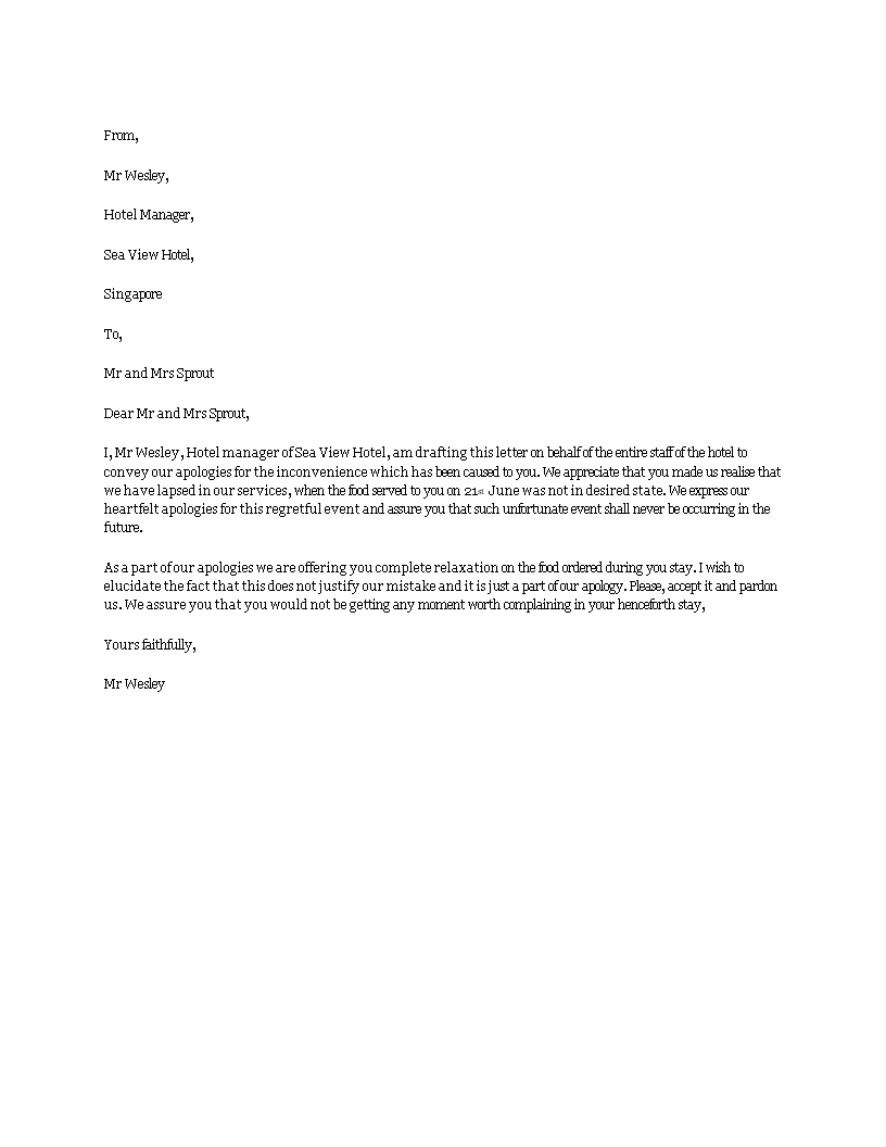 How To Write Apology Letter To Customer Image collections Letter
