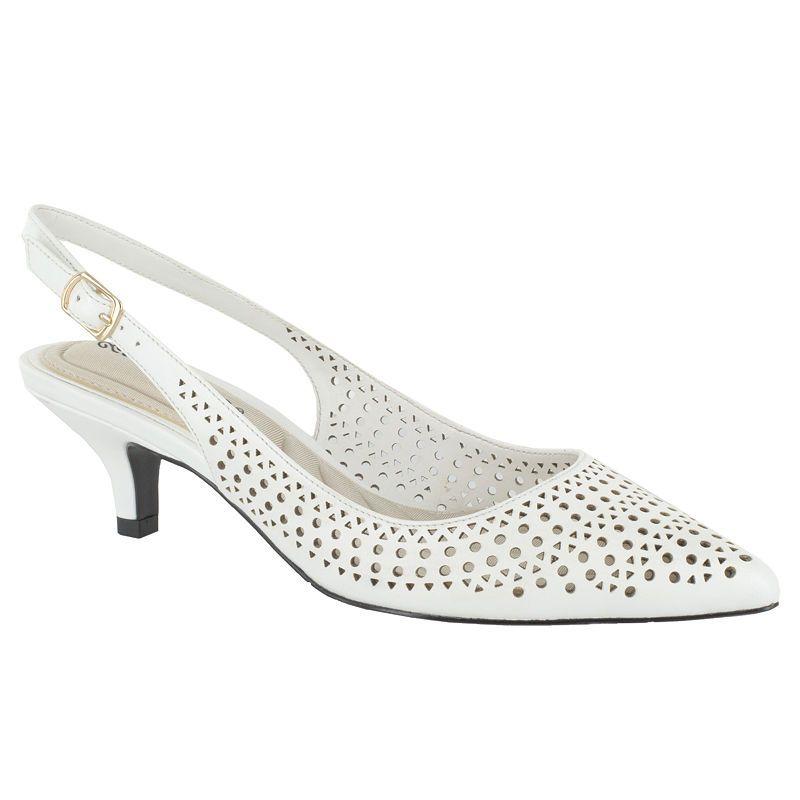 4fc22d79425 Easy Street Womens Enchant Pumps Pointed Toe Kitten Heel