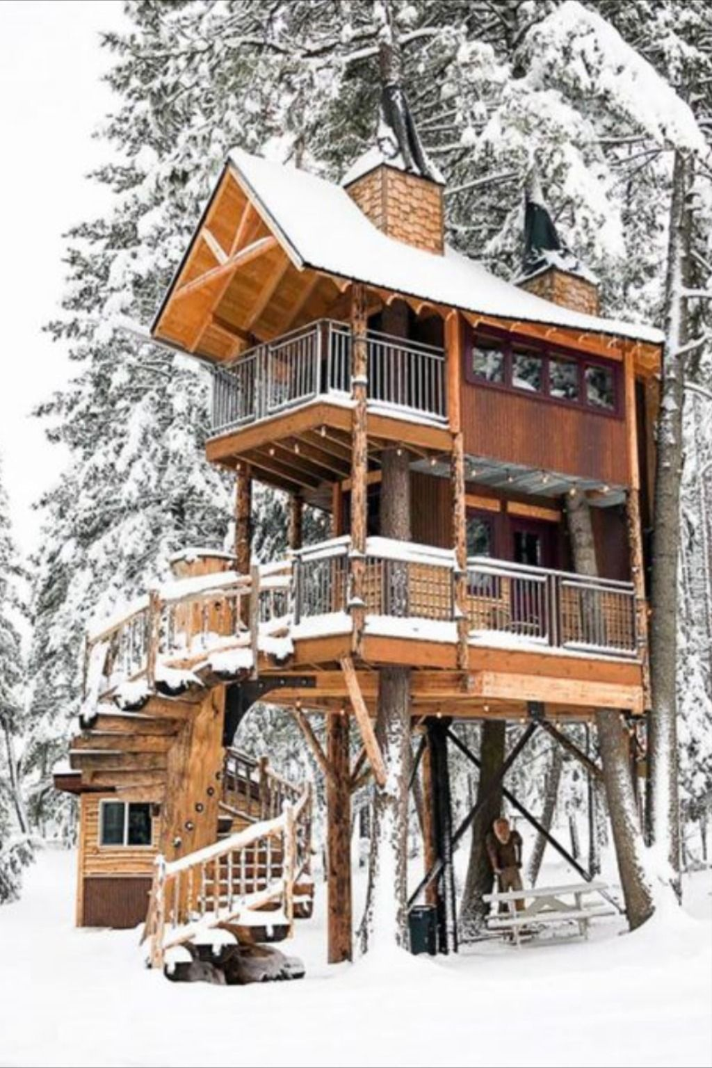 13 Incredible Treehouse Rentals In The U S In 2020 Cool Tree Houses Tree House Tree House Designs
