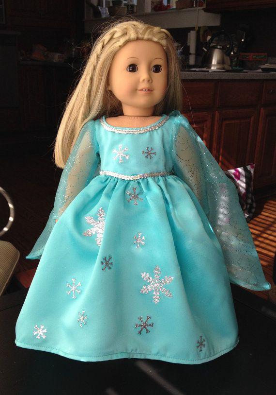 Disney inspired Frozen Snow Queen American Girl or 18\