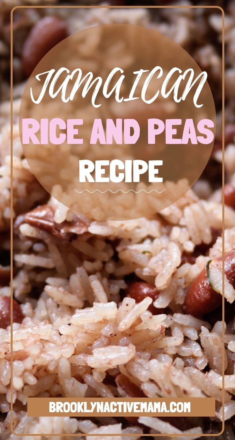 delicious authentic jamaican rice and peas  recipe in