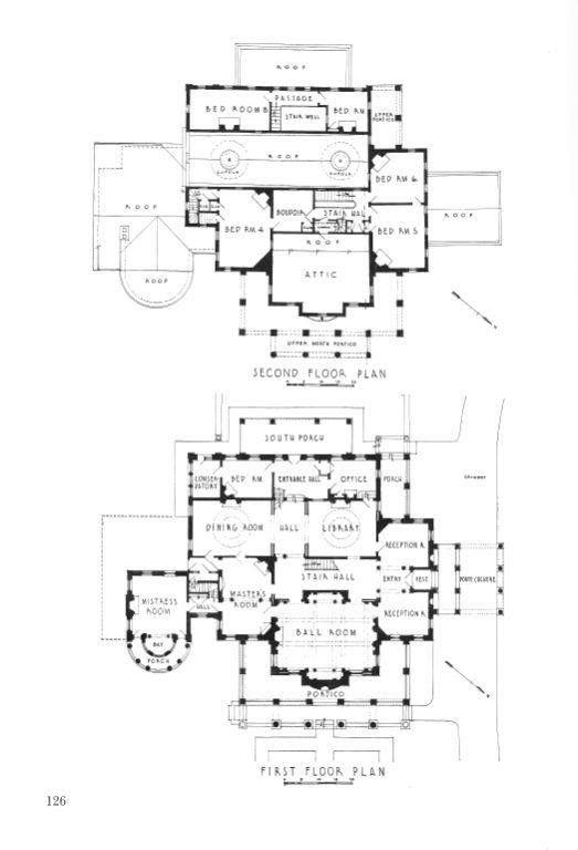 Gaineswood Demoplis Alabama Architectural Floor Plans How To Plan Floor Plans
