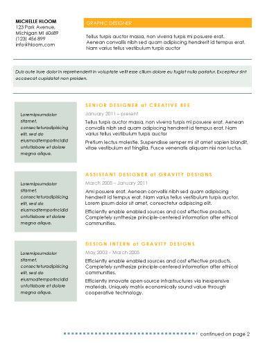 ModernPrelude  Resume Templates    Modern Resume