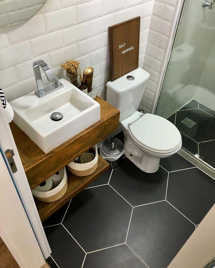 36 super petites idées de salle de bain pour la décoration d'appartements 4