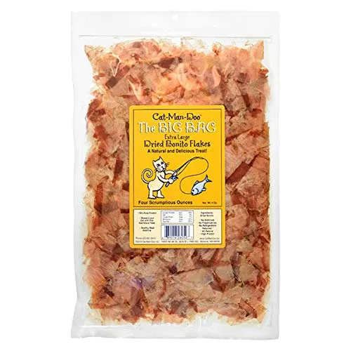 CatManDoo Extra Large Dried Bonito Flakes Treats for
