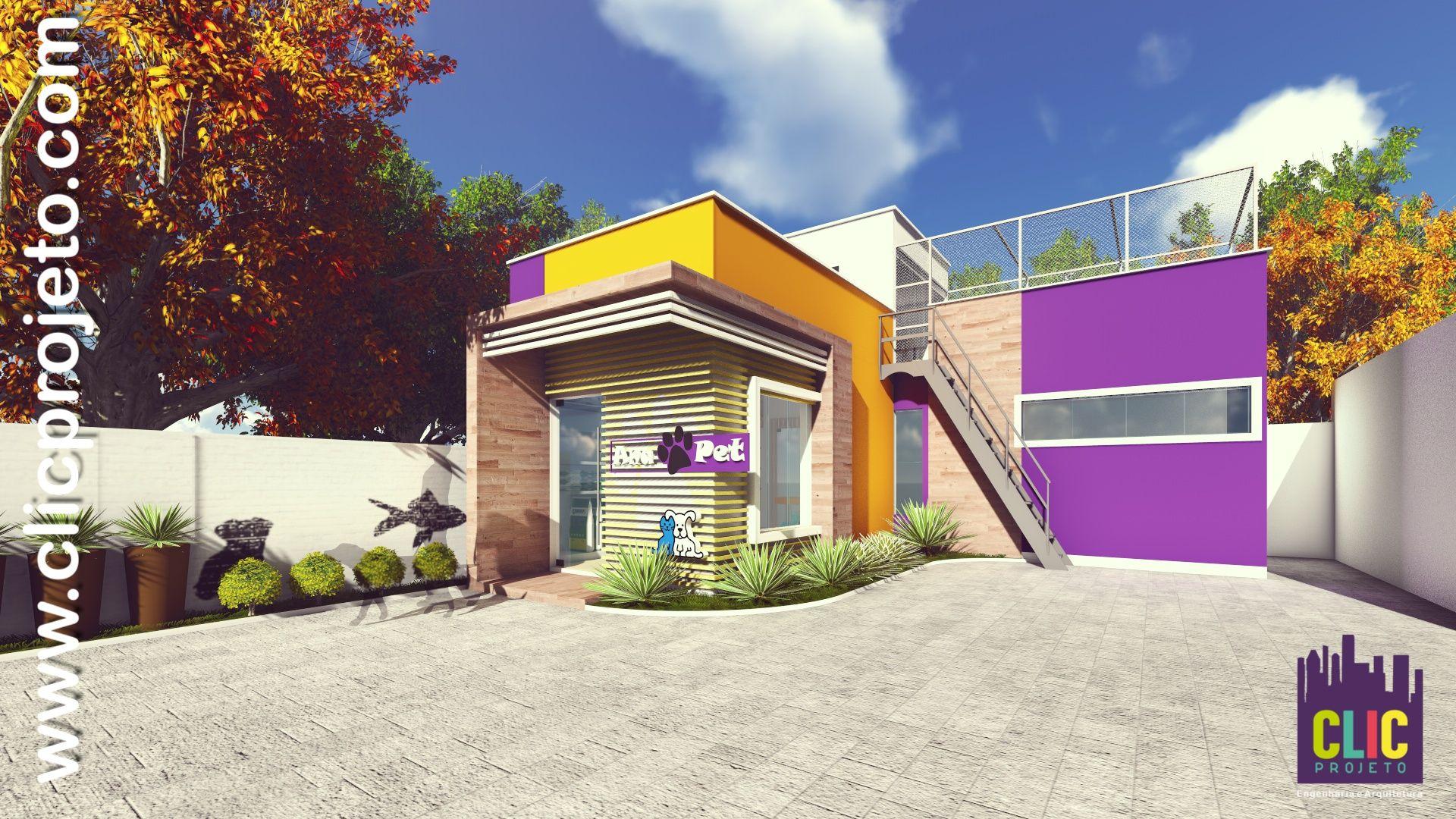Super Fachada 3D de Pet Shop da cidade de Timbó - SC. Criação Clic  PQ58