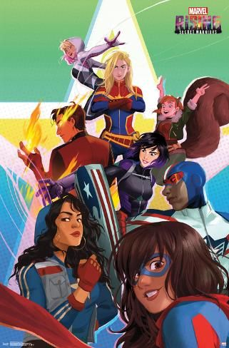 Poster: Marvel Rising - Group, 34x22in.