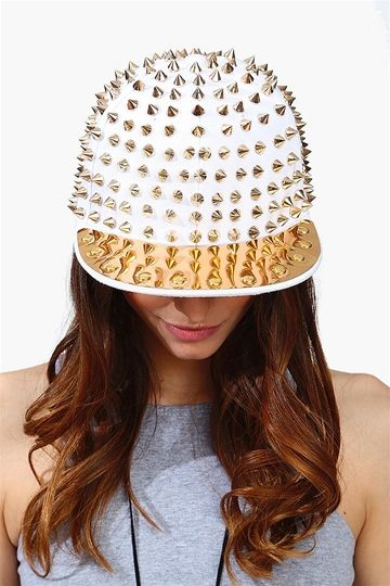Spike It Snap Back Hat - White. I hardcore want this. 86d5c22cea90