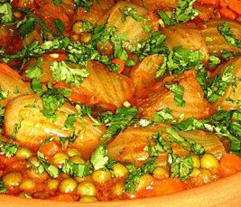 La Cuisine Algerienne: Tajine De Fenouils Et Petits Pois Recette De Cuisine