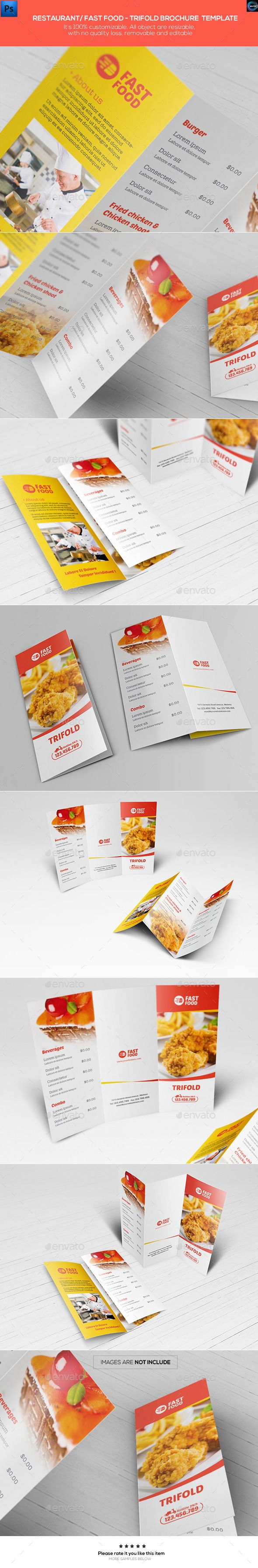Restaurant/ Fast Food - Trifold Brochure Template | Discover more ...