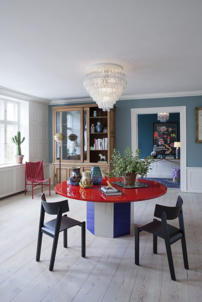 red / blue Painted Furniture Pinterest Interior, Home Decor