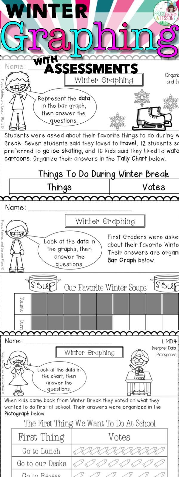 First Grade Graphing Pinterest Math Worksheets Common Cores And