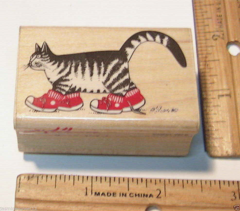 B KLIBAN KLIBAN CAT SNEAKERS BY RUBBER STAMPEDE Rubber Stamp   #RubberStampede #BKLIBAN