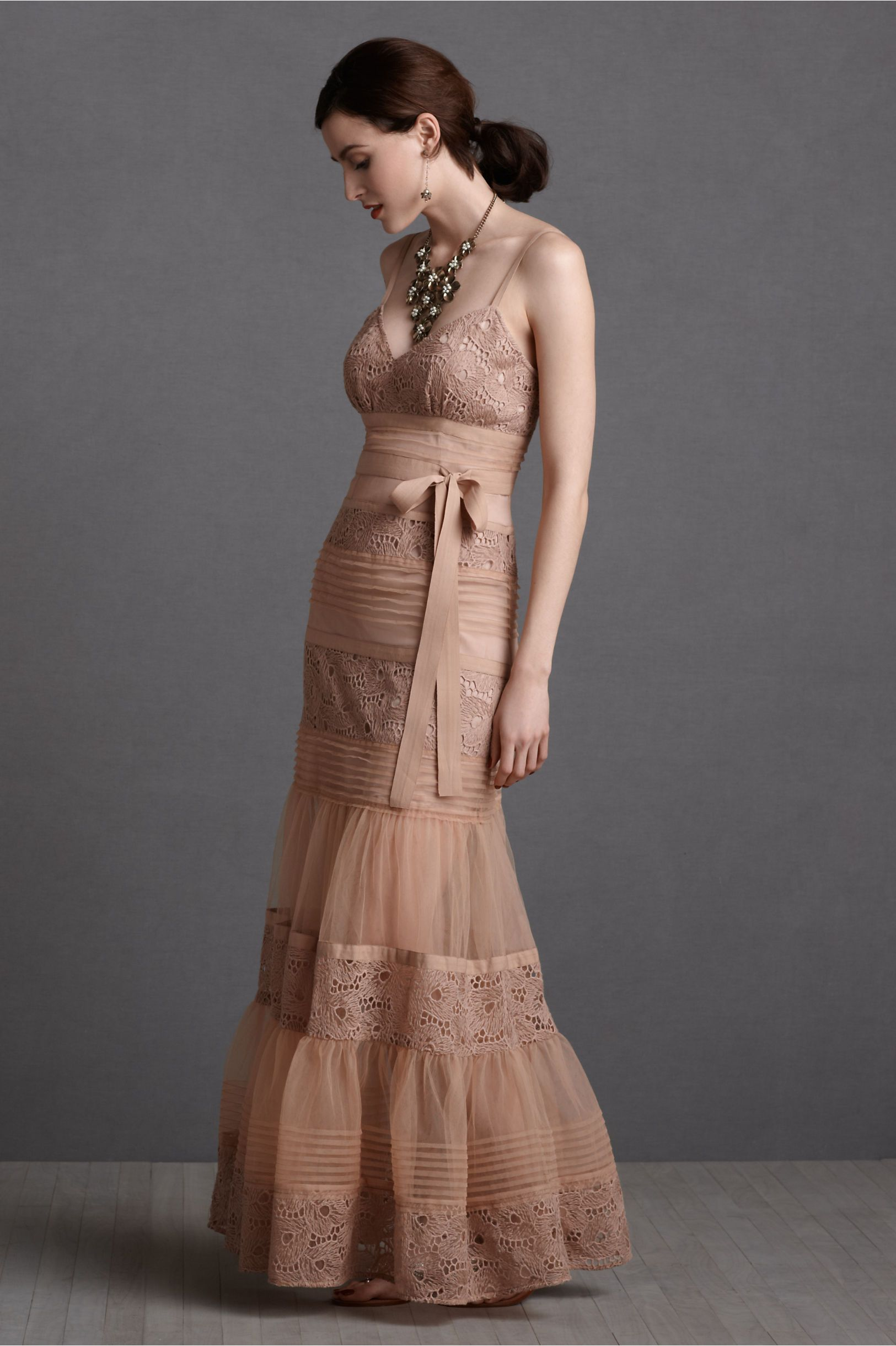 2 piece crop top wedding dress  Rosewater Parfait Dress from BHLDN  Romantic Dresses  Pinterest