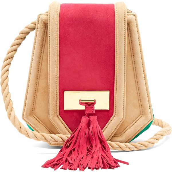 Balmain Chaska suede cross-body bag (€735) ❤ liked on Polyvore featuring bags, handbags, shoulder bags, crossbody purses, shoulder strap purses, cross-body handbag, crossbody shoulder bag and shoulder strap bags