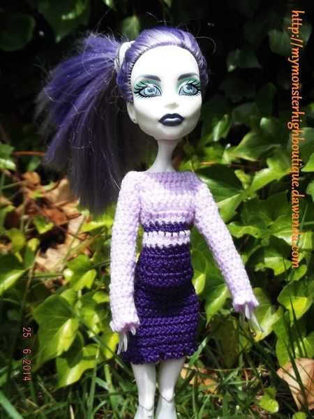 Vestido para Monster High v275 de My Monster High boutique por DaWanda.com