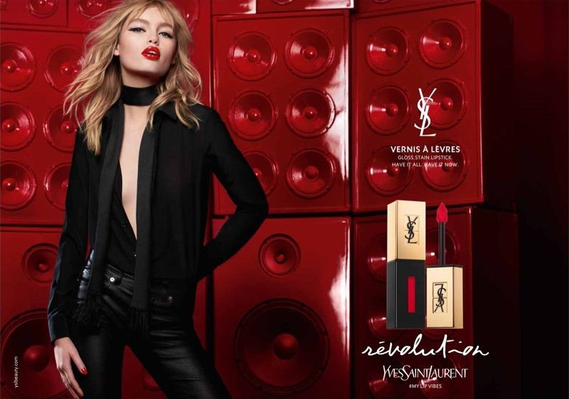 Staz Lindes Charms In Yves Saint Laurent Beauty Campaign Ysl Beauty Yves Saint Laurent Saint Laurent