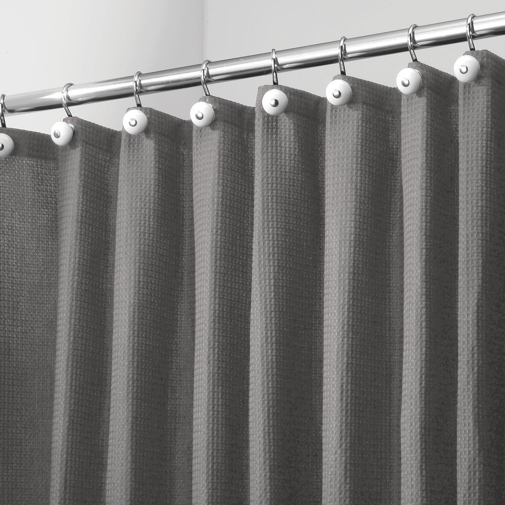 X Wide Waffle Weave Fabric Shower Curtain 108 X 72 In 2020