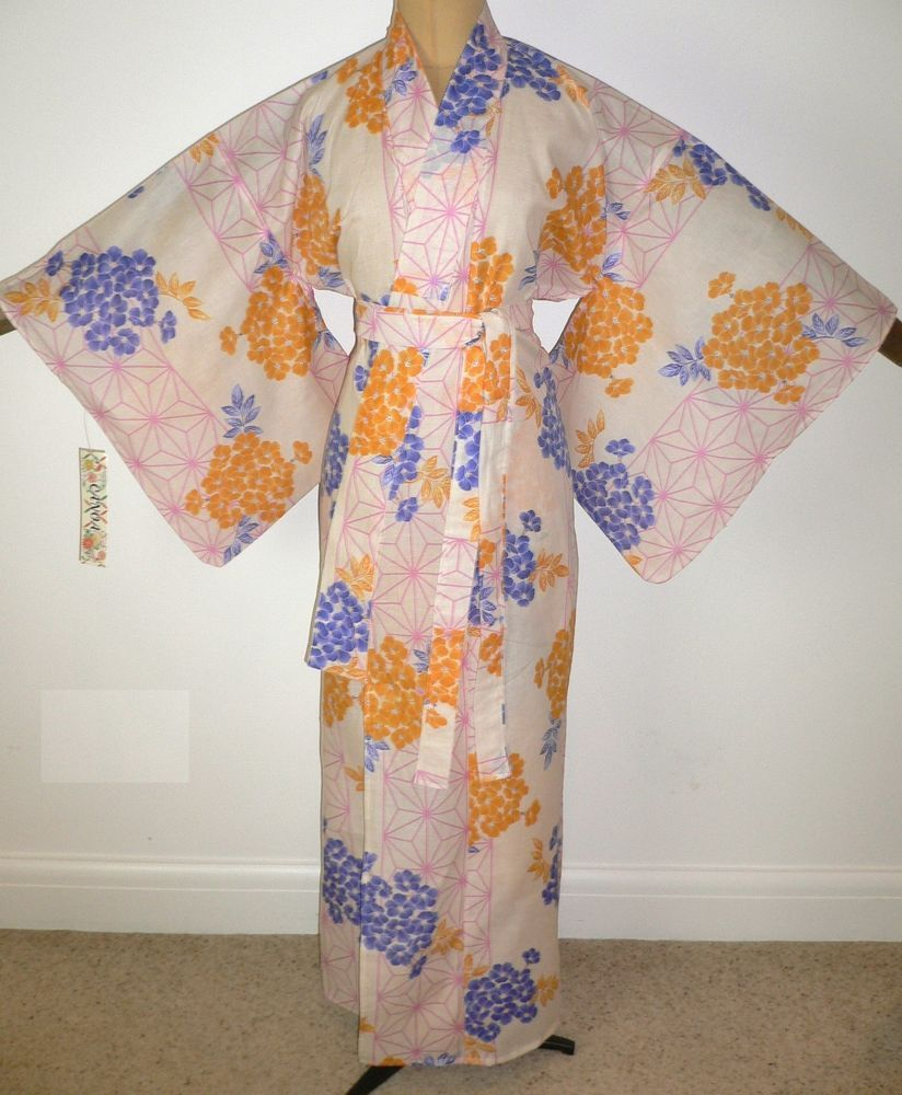 07c1663a8 SALE NEW JAPANESE COTTON YUKATA KIMONO adapted to ROBE DRESSING GOWN belt  #fashion #clothing #shoes #accessories #womensclothing #intimatessleep  (ebay link)