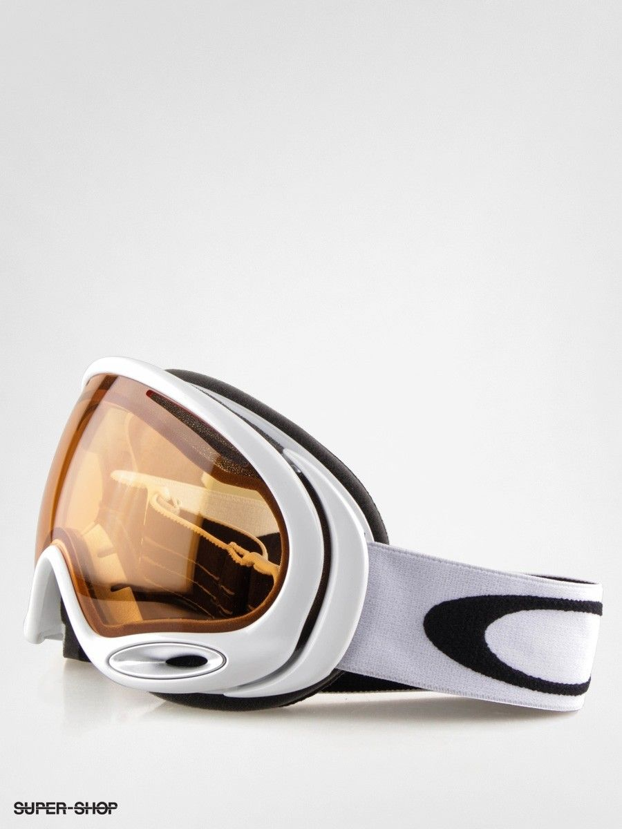 a frame oakley lenses 7c7d  Oakley Goggle A-Frame 20 polished white w/persimmon lens