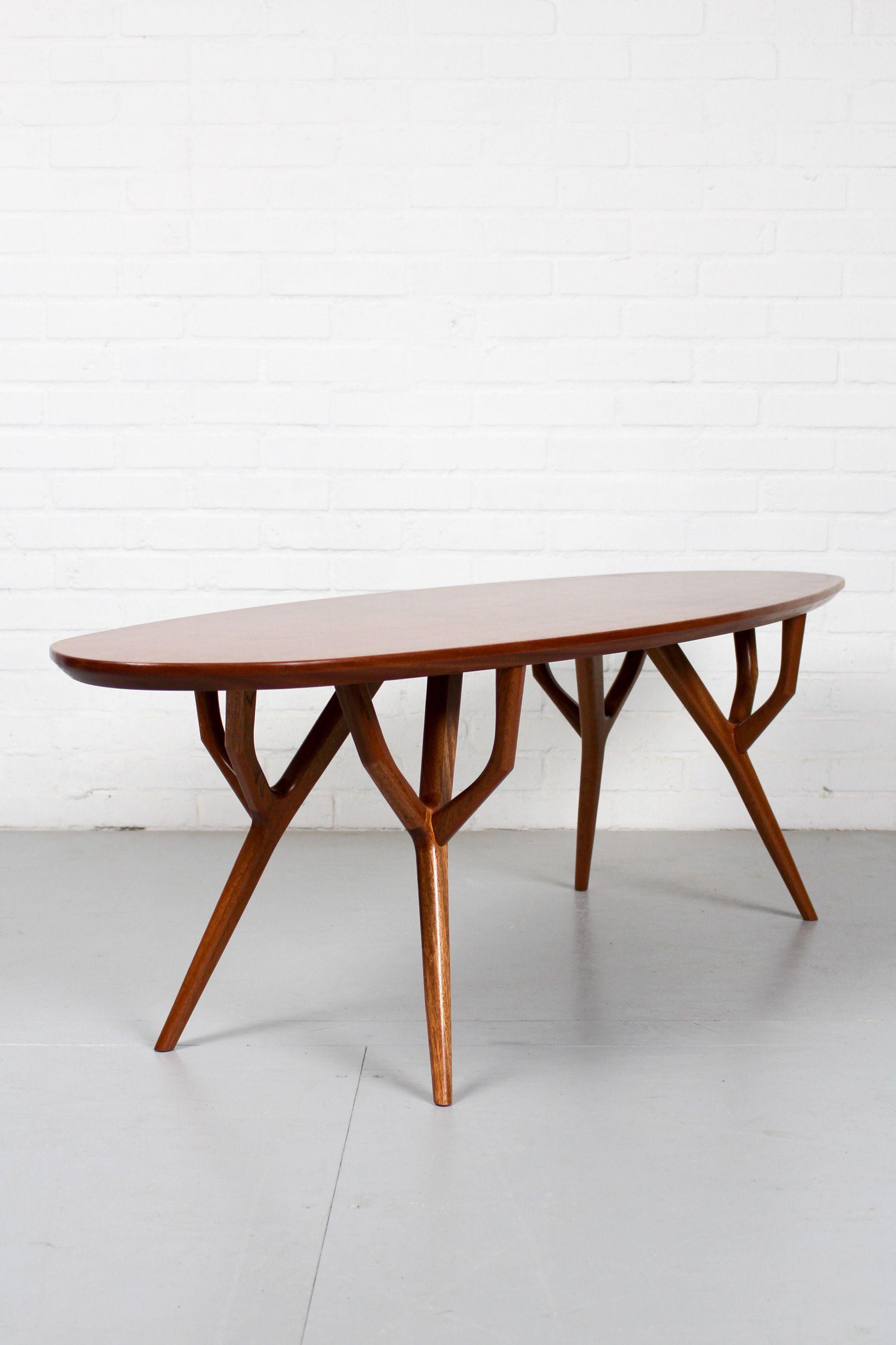 retro mid century style very organic mahogany coffee table retro rh pinterest com